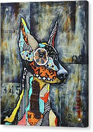 Doberman Pinscher Acrylic Print by Patricia Lintner