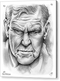Doc Watson Acrylic Print by Greg Joens