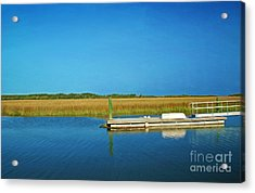 Dock And Marshes Acrylic Print