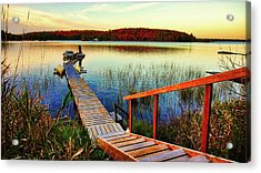 Dock At Gawas Bay Acrylic Print