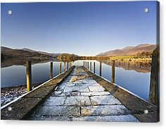 Dock In A Lake, Cumbria, England Acrylic Print