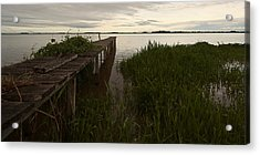 Acrylic Print featuring the photograph Dock In The Morning by Ron Dubin