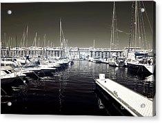 Dock In The Port Acrylic Print by John Rizzuto