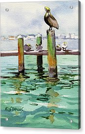 Acrylic Print featuring the painting Dock O' The Bay by Kris Parins