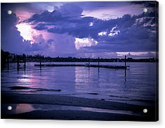 Dock On The Water Acrylic Print by Michael Frizzell