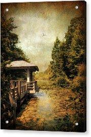 Dock On The Wetlands Acrylic Print by Jessica Jenney