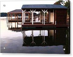 Dock Reflections Acrylic Print