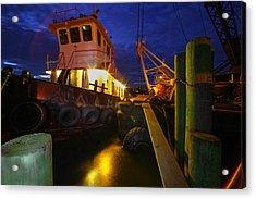 Dock Side Acrylic Print