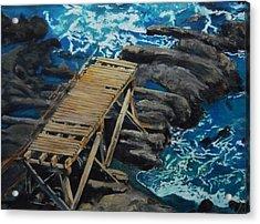 Dock Acrylic Print by Travis Day