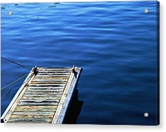 Dock Acrylic Print by Val Jolley