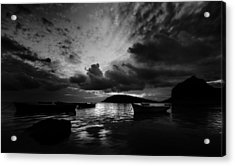 Docked At Dusk Acrylic Print