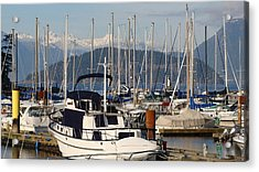 Docked For The Day Acrylic Print by Rod Jellison