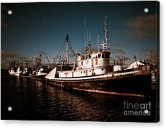 Docked For The Day Acrylic Print by Venetta Archer