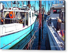 Acrylic Print featuring the photograph Docked In Barnegat Bay by John Rizzuto