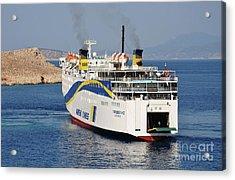 Docking Ferry On Halki Acrylic Print