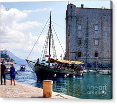 Docking In Dubrovnik Harbour Acrylic Print