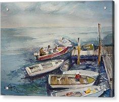 Dockside Acrylic Print by Dorothy Herron