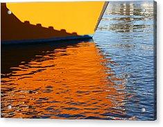 Dockside Acrylic Print by Evelyn Antonysen