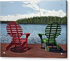 Dockside Acrylic Print by Kenneth M  Kirsch