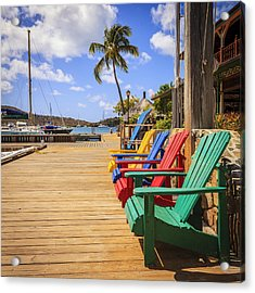 Dockside Lounge Acrylic Print by Alexey Stiop