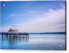 Acrylic Print featuring the photograph Dockside by Spencer McDonald
