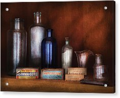 Doctor - Asthma Cures Acrylic Print by Mike Savad