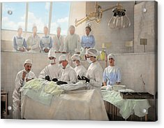 Doctor - Operation Theatre 1905 Acrylic Print by Mike Savad