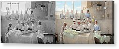 Doctor - Operation Theatre 1905 - Side By Side Acrylic Print by Mike Savad