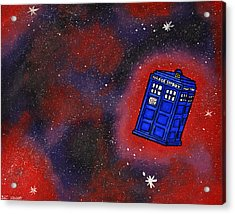 Police Box In Space Acrylic Print