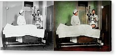 Acrylic Print featuring the photograph Doctor - Xray - Getting My Head Examined 1920 - Side By Side by Mike Savad