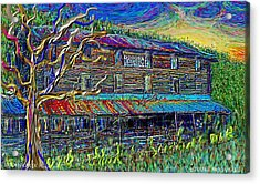 Acrylic Print featuring the painting Dodds Creek Mill, ,floyd Virginia by Hidden Mountain
