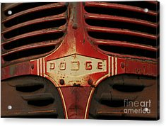 Acrylic Print featuring the photograph Dodge 41 Grill by Steve Augustin