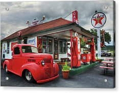 Acrylic Print featuring the photograph Dodge At Cruisers by Lori Deiter