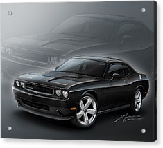Dodge Challenger 2013 Acrylic Print by Etienne Carignan