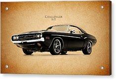 Dodge Challenger Acrylic Print by Mark Rogan