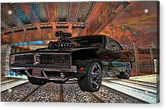 Acrylic Print featuring the photograph Dodge Charger R/t 1969 Hemi by Louis Ferreira