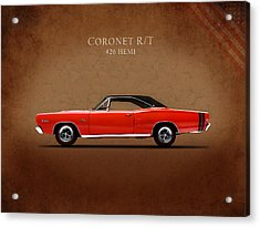 Dodge Coronet R T Acrylic Print by Mark Rogan