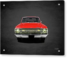 Dodge Dart 340 Acrylic Print by Mark Rogan