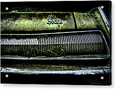Dodge Green Grin Acrylic Print