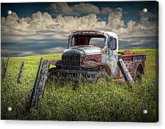 Dodge Truck Has Seen It's Day Acrylic Print by Randall Nyhof