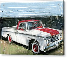 Dodge Truck Acrylic Print by Russell Pierce