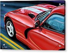 Dodge Viper Coupe Acrylic Print by David Kyte