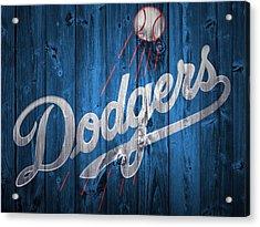 Dodgers Barn Door Acrylic Print by Dan Sproul