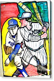 Dodgers Yankees Acrylic Print by James Christiansen