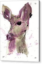 Acrylic Print featuring the painting Doe by Dawn Derman