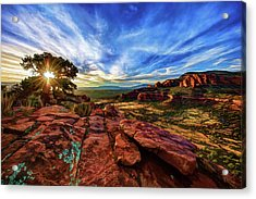 Acrylic Print featuring the photograph Doe Mountain Sunset by ABeautifulSky Photography