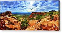 Doe Mountain Vista Acrylic Print by ABeautifulSky Photography