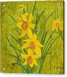 Daffodils Too Acrylic Print