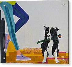 Dog And A Chuck-it Acrylic Print