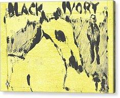 Dog At The Beach - Black Ivory 3 Acrylic Print